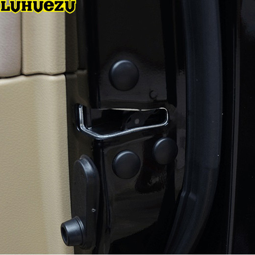 Luhuezu 12PCS Door Lock Screw Protector Cover For <font><b>Toyota</b></font> <font><b>Land</b></font> <font><b>Cruiser</b></font> 200 <font><b>Prado</b></font> <font><b>FJ150</b></font> RAV4 Corolla Camry Highlander Accessories image