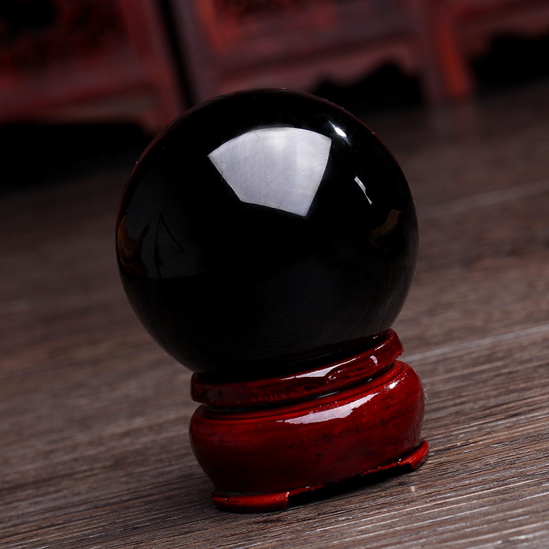 nstural obsidian stone massage ball Bell Chakra Healing Reiki Natural Stone Carved Craft ball