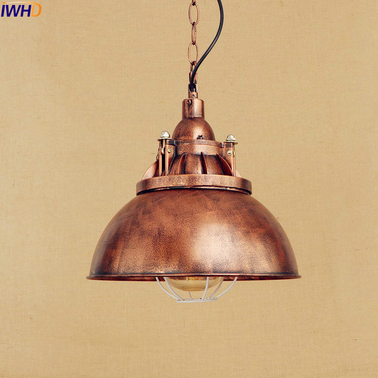 IWHD American Retro Industrial Pendant Lighting Fixtures Dinning Room Edison Style Loft Vintage Lamp Luminaire Lampara 2pc rustic loft style industrial vintage lamp dinning room retro pendant lights fixtures led edison home lighting lamparas