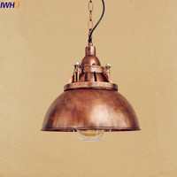IWHD American Retro Industrial Pendanting Lighting Fixtures Dinning Room Edison Style Loft Vintage Lamp Luminaire Lampara
