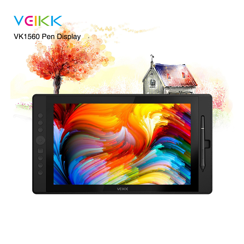 VEIKK VK1560 15 6 inch Drawing Pen Display IPS Drawing Monitor with 8192 Levels Battery Free