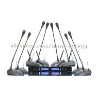 Professional U Segment Dragged Eight Wireless Conference Microphone Condenser Gooseneck Anti noise Microphone Conference System