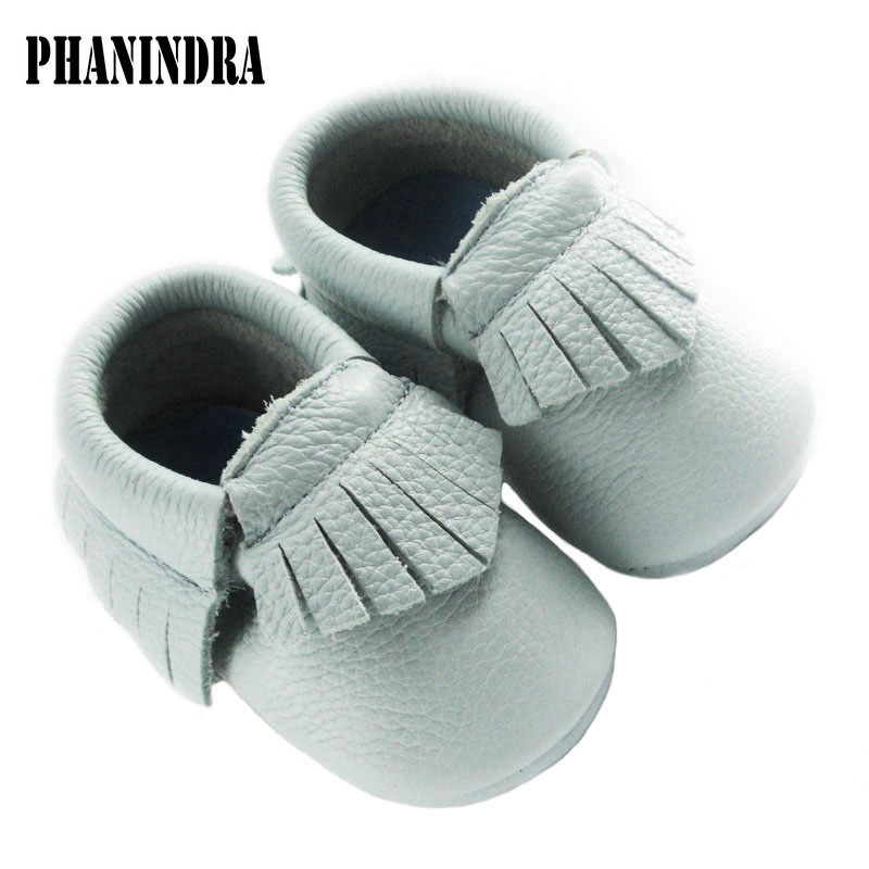 New greyblue Baby moccasins of Moccs Girls boys Soft genuine leather Baby First Walkers kid Boots chaussure enfant sneakers