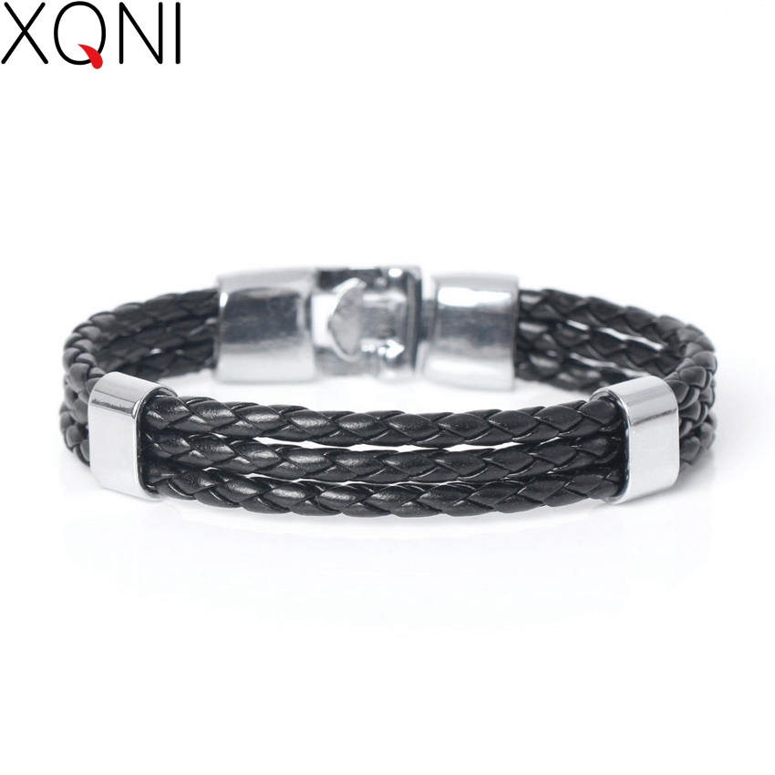 New Fashion Multilayer Bandage Male Leather Bracelets Trendy Concise Handmade Brand Charm Men's Bracelet Friendship Bracelet.