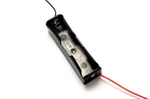 Image 1 - Nouvelle boîte de rangement en plastique 18650 porte batterie avec fils pour 18650 Batteries 3.7 V noir