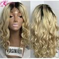 Бесплатная Доставка Два Тона Ломбер # 1b/#613 Glueless Полный Шнурок Человеческих Волос Парики/Glueless Фронта Шнурка парик Бразильский Объемная Волна Блондинка 7А