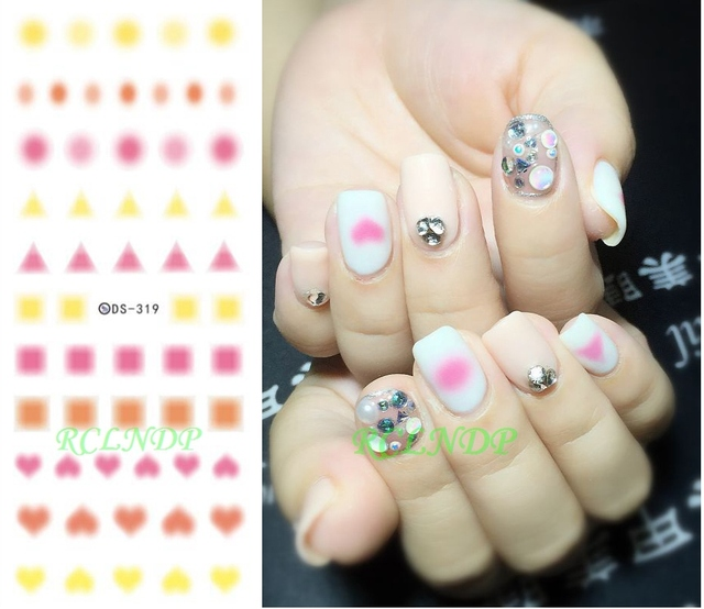 Water Sticker For Nail Art All Decorations Sliders Round Triangle