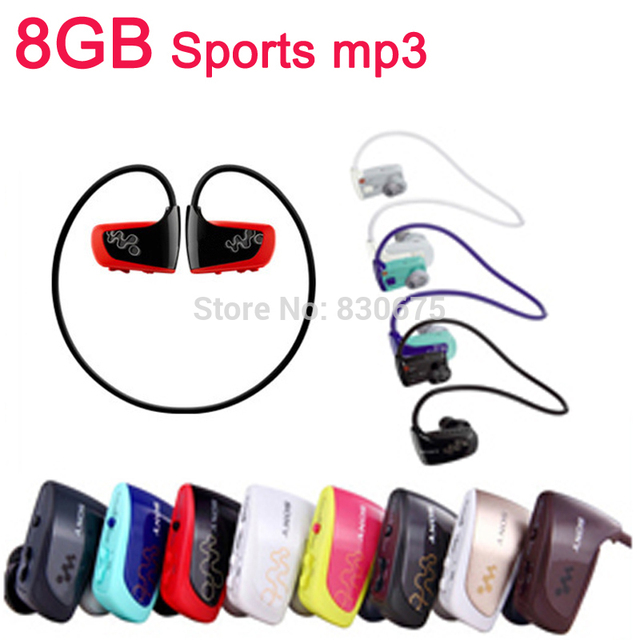 Hot High quality 8GB Sport MP3 player W262 Stereo Headset MP3 headphone for sony walkman mp3 player