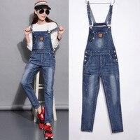 QMGOOD Womens Jeans Overalls Jeans Women Jumpsuits 2019 Fashion Street Style Slim Elastic High Waist Jeans Skinny Denim Pants
