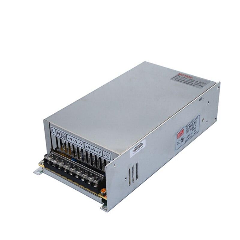 Alimentation à découpage d'équipement industriel de cc de S-500-12V, alimentation à découpage de régulateur de tension de cc de puissance élevée