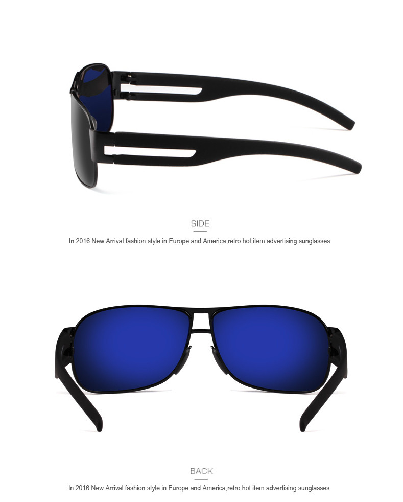 High Quality Alloy Polarized Sunglasses Men Vintage Male Sport Sun glasses Driving Google Eyewear Come with 6 Accessories K7806 6