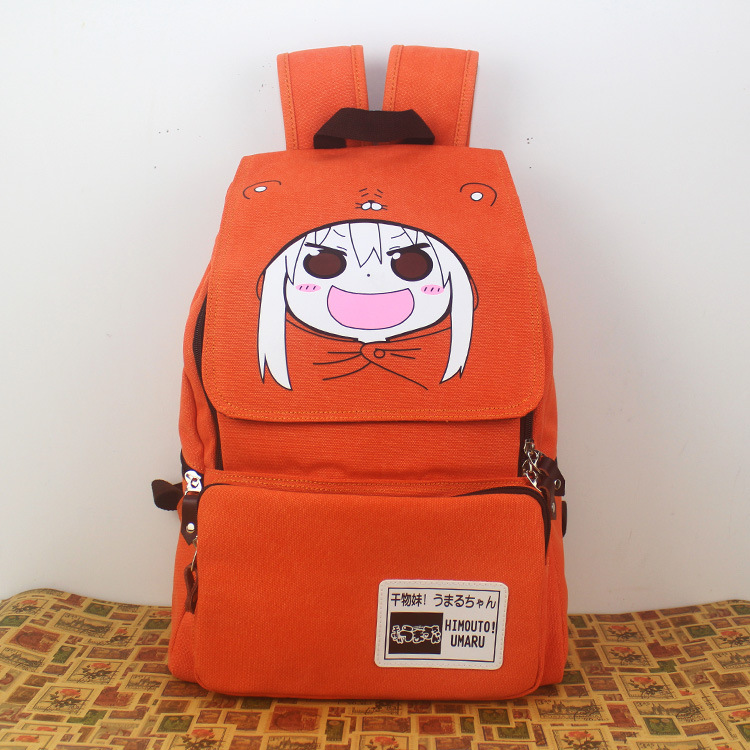 Anime Himouto! Umaru-chan Cosplay Anime Shoulder Bag Male Female Middle School Student Bag Casual Canvas Backpack anime axis powers cosplay feliciano var backpack anime cartoon campus high school primary school students bag shoulder bag backp