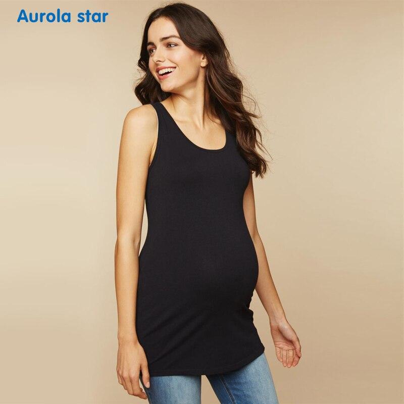 Pregnancy Tanks Tops High Elastic Pregnant Pajamas Maternity For Women Solid Casual Summer Women Sleeveless AUROLA STAR