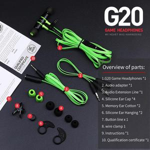 Image 5 - ハンマー G20 イヤホンでイヤゲーミングヘッドフォンワイヤーハンズフリー fones ステレオ比較 Razer ハンマー V2 プロ