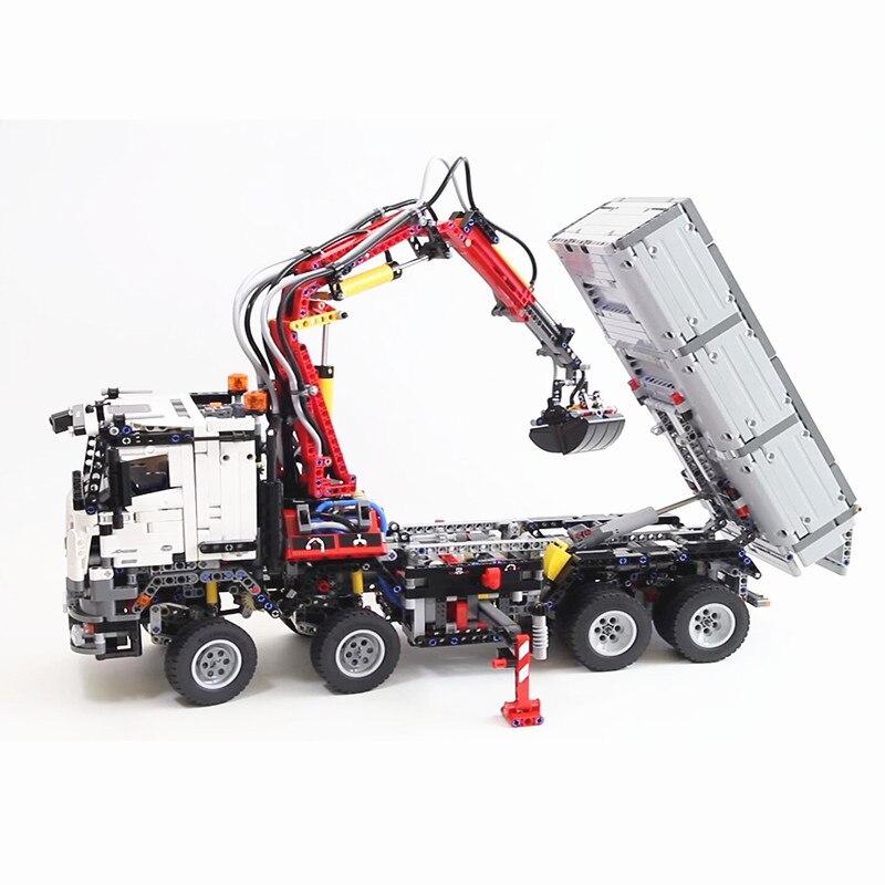 Lepinblocks الملك الطوب 20005 تكنيك نماذج من الشاحنات 3245 قطعة اللبنات مجموعة 42043 التقنية لعب للأطفال هدية مع موتور-في حواجز من الألعاب والهوايات على  مجموعة 2