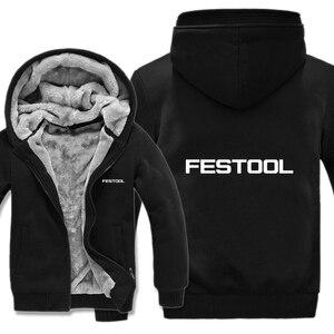 Image 2 - Festool כלים נים Mens רוכסן מעיל צמר לעבות איש Festool כלים סווטשירט בסוודרים