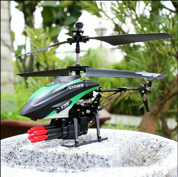 Hot sell  V398 RC Helicopter 3.5CH Missile launch Gyro Infrared Control Electric helicopter Mini Micro Metal LED Alloy Frame xinlin shiye x123 3 5 ch r c infrared control helicopter black yellow