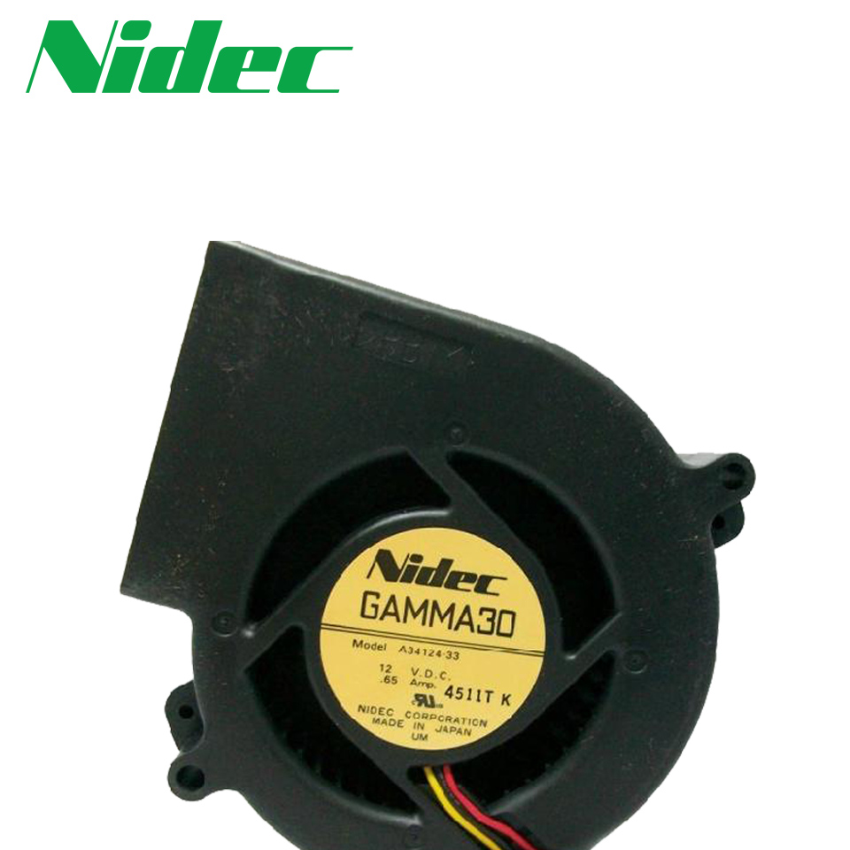 Nidec New 9733 turbofan projection device servers 12V 0.65A A34124-33 97*97*33mm