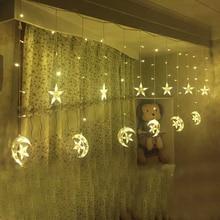 Ice Led String strip light Moon stars 138leds 250CM Length Fairy Lights Christmas font b Window