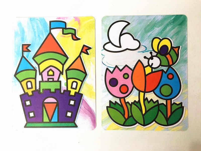 Happyxuan 8 Набор дизайнов DIY 3D Бумага ремесла наборы для детей дошкольного образования материалы детский сад игрушки для детского творчества девочка