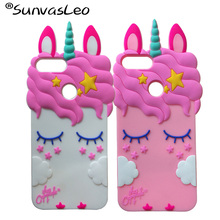 For Huawei Honor 9 Lite Case 3D Pretty Unicorn Soft Silicone Cover Skin Phone Silicon for Fundas