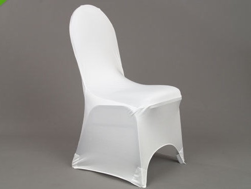 100 pcs SPANDEX CHAIR COVER LYRCA WHITE / BLACK COVERS PAKAIAN - Tekstil rumah