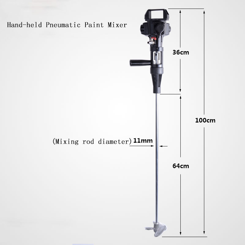 Hand-held Pneumatic Paint Mixer Stainless Steel Mixer Blade Ink Mixer Machine 5 gallons agitator pneumatic mixing