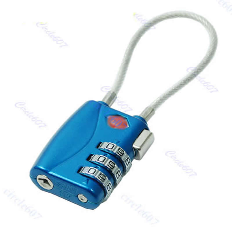 Suitcase Lock TSA Resettable 3 Digit Combination Travel Luggage Suitcase Lock Padlock Blue Y058 HOT SALE hot sale suitcase cheap electric guitar suitcase cheap price