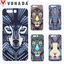 Vonada Forest King Case for Huawei Honor 9 Animals Lion Wolf Owl Pattern PC Hard Glow In The Dark Luminous Phone Case Cover