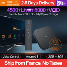 IPTV France Global Xiaomi Mi Box S SUBTV 1 Year Code BT4.2 4K Android 8.1 IPTV French Arabic Italy UK Portugal IP TV Mi Box 4