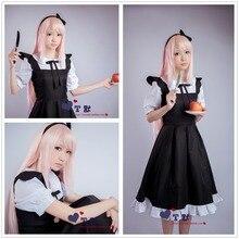 Vocaloid luka cosplay del anime cos lolita maid dress disfraces de halloween para las mujeres shipping