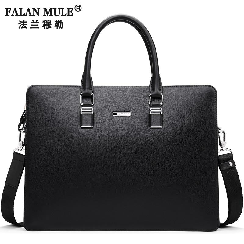 FALAN MULE Fashion Genuine Leather Men Bag Famous Brand Men Shoulder Bag Messenger Bags Causal Handbag