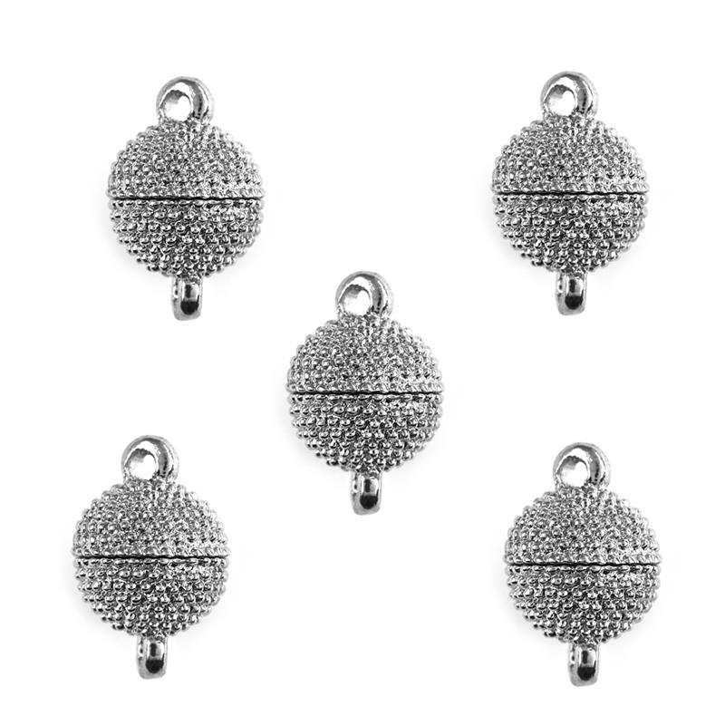 5pcs/Lot Round Ball Magnetic Clasps 16x10mm 12x6mm Alloy Clasps Buckle Hook Jewelry Findings Bracelet Clasp DIY Jewelry Making