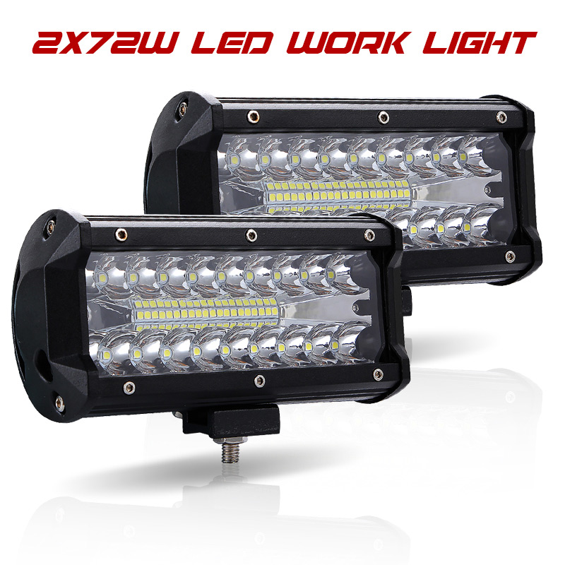 Led Light Bar Offroad 4x4 7 Inch 120W Led Work Lights for Tractors Spot Flood Combo Beam Triple Row Led Fog Lamp Driving Lights-in Light Bar/Work Light from Automobiles & Motorcycles