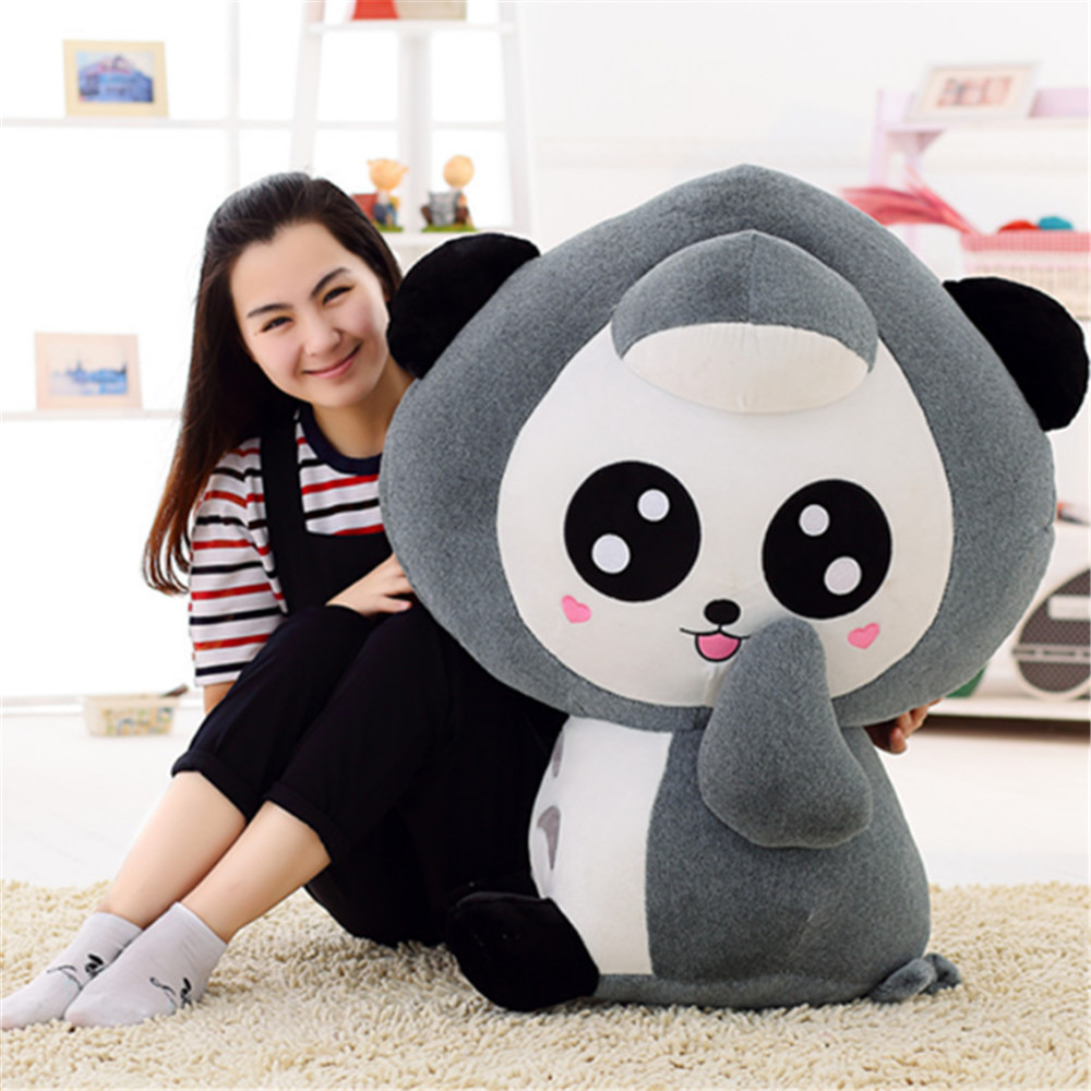 Fancytrader Anime Gray Panda Bear Pillow Doll Stuffed Soft Animals Panda Toys 80cm 31inch Nice Gifts