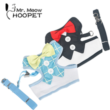 Super pretty bowtie tuxedo-style Sphynx Cat harness with leash