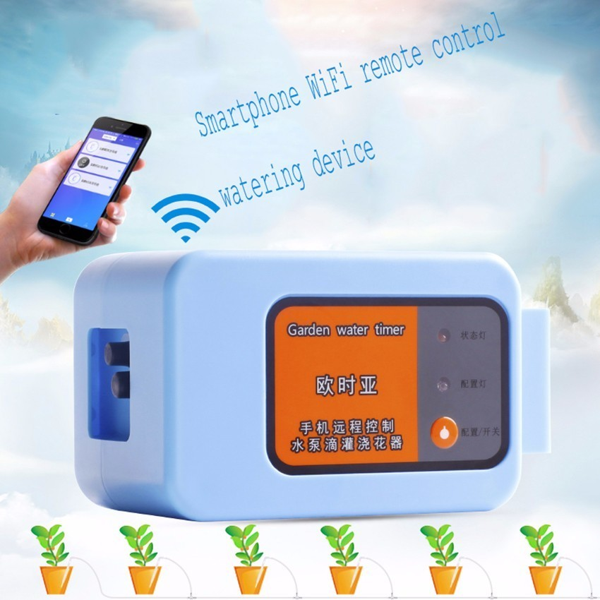 Mobile Phone Remote WIFI Control Watering Device Intelligent Automatic Drip Irrigation System For Garden Plant Water Pump Timer