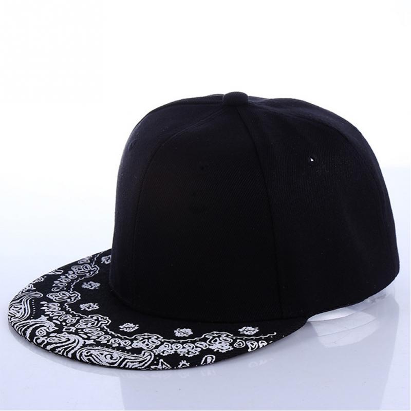 Paisley patrón sombrero negro nueva Moda hombre mujeres verano gorra ...