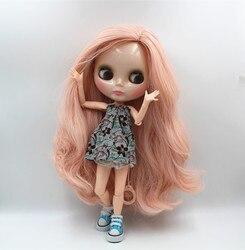 Cachos onda Blygirl Blyth boneca Rosa boneca corpo joint NO.47BL122 19 articulações normais da pele
