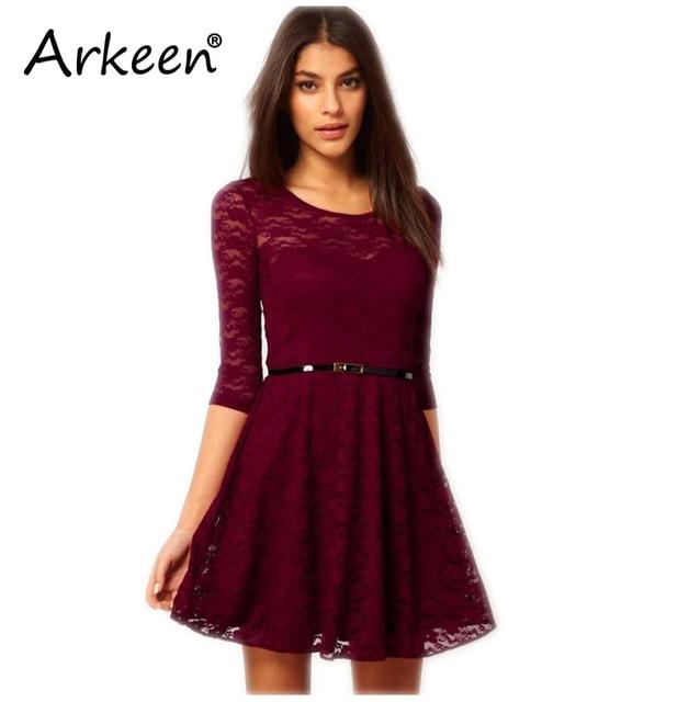 Elegant 2017 Vintage Sexy Party Lace Dress Midi Gothic Kleider ...