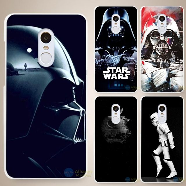 Star Wars White Cell Phone Case Cover for 3 3S 4 4A 4C 4S 5 5S Pro