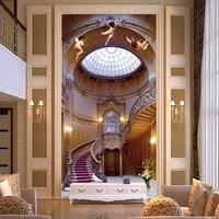 Son özel 3D büyük duvar, kraliyet aristokrat Avrupa 3 d melekler merdiven, oturma odası tv arka plan yatak odası duvar kağıdı