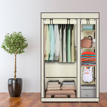 New hot cloth wardrobe simple 1 hanging closet reinforcement of Rent room assembly large capacity folding cloth cover cabinet(China)