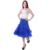 Señora Rockabilly Petticoat Tutu Falda 5 del Color Organza de La Vendimia Mujeres Underskirt Bola Mullida Adolescente Dance Party El Envío Libre