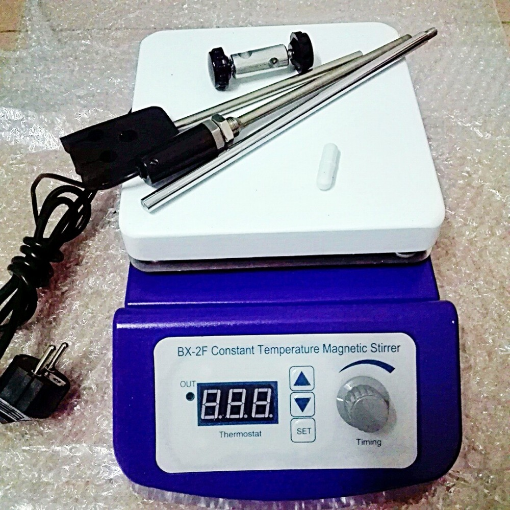 BX-2F Digital Magnetic Stirrer plate with heating ,4L Capacity,Digital Temperature Control,with Stir bar,pole,connector clamp free shipping 7 15 mm ptfe magnetic stirrer mixer stir bar with pivot ring white color