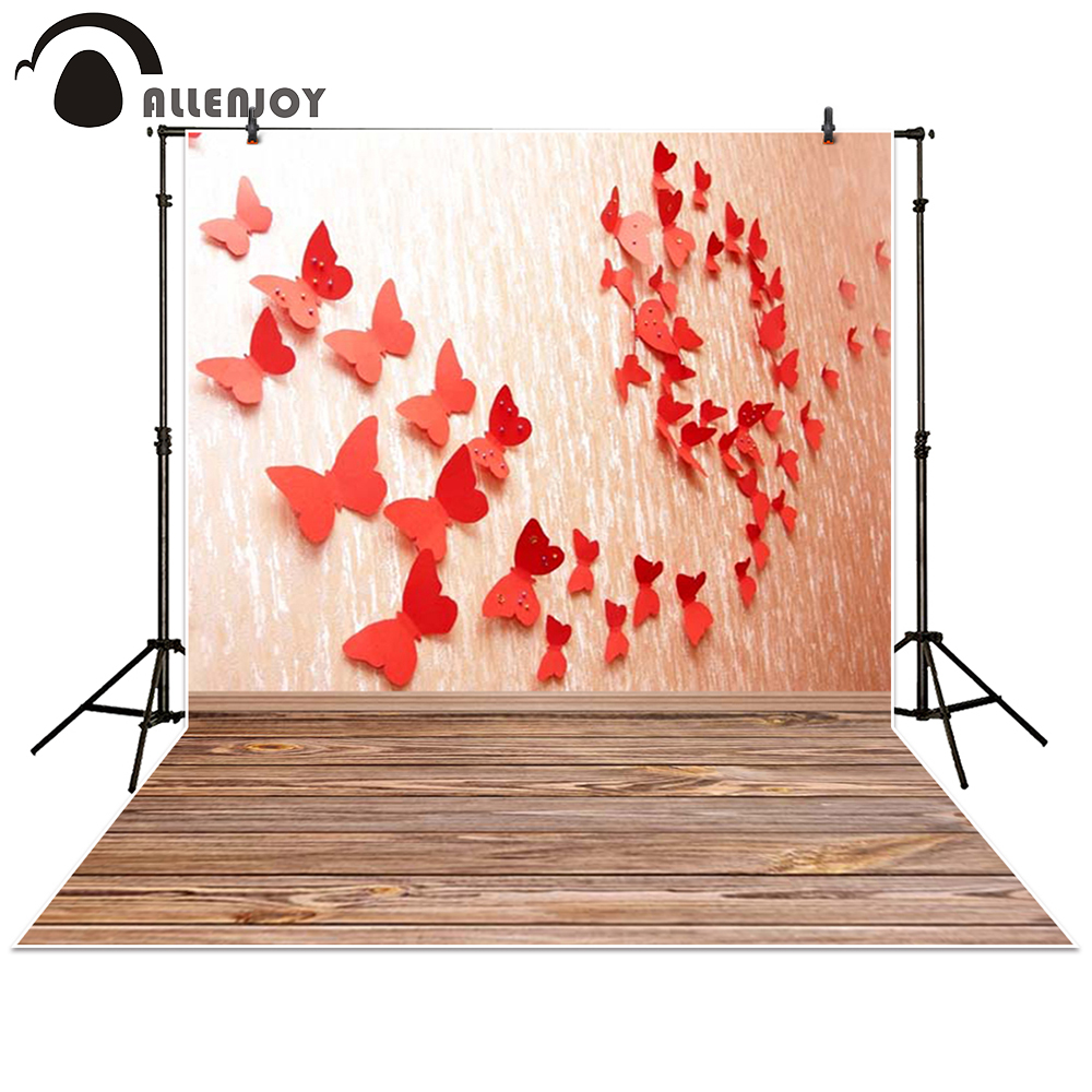 Allenjoy photography backdrop Butterfly paper board red baby shower children background photo studio photocall ночник camelion nl 170 фонарик led 220в малиновый белый