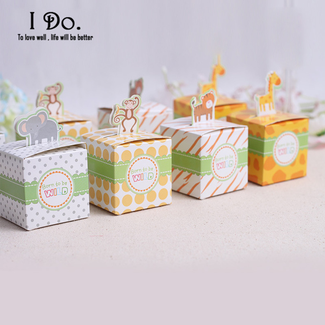 Us 5 23 29 Off Free Shipping 10pcs Animal Zoo Birthday Party Decorations Kids Birthday Favor Boxes Candy Box Baby Shower Party Decoration In Gift