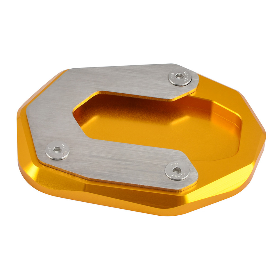 AfterMokit Side Stand Extension Pad Kickstand Enlarger Plate for Ducati Scrambler 800 2014 and Up Sixty2 2016 and Up Gray