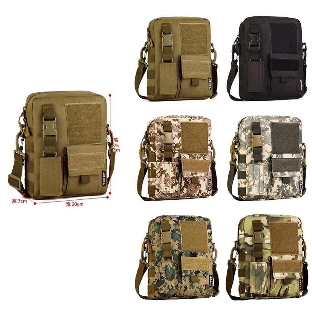 Outdoor Anti-tear Military Tactical Camping Shoulder Bag Cross Body Belt Sling Bags Laptop Messenger Backpack High Quality W2 Climbing Bags