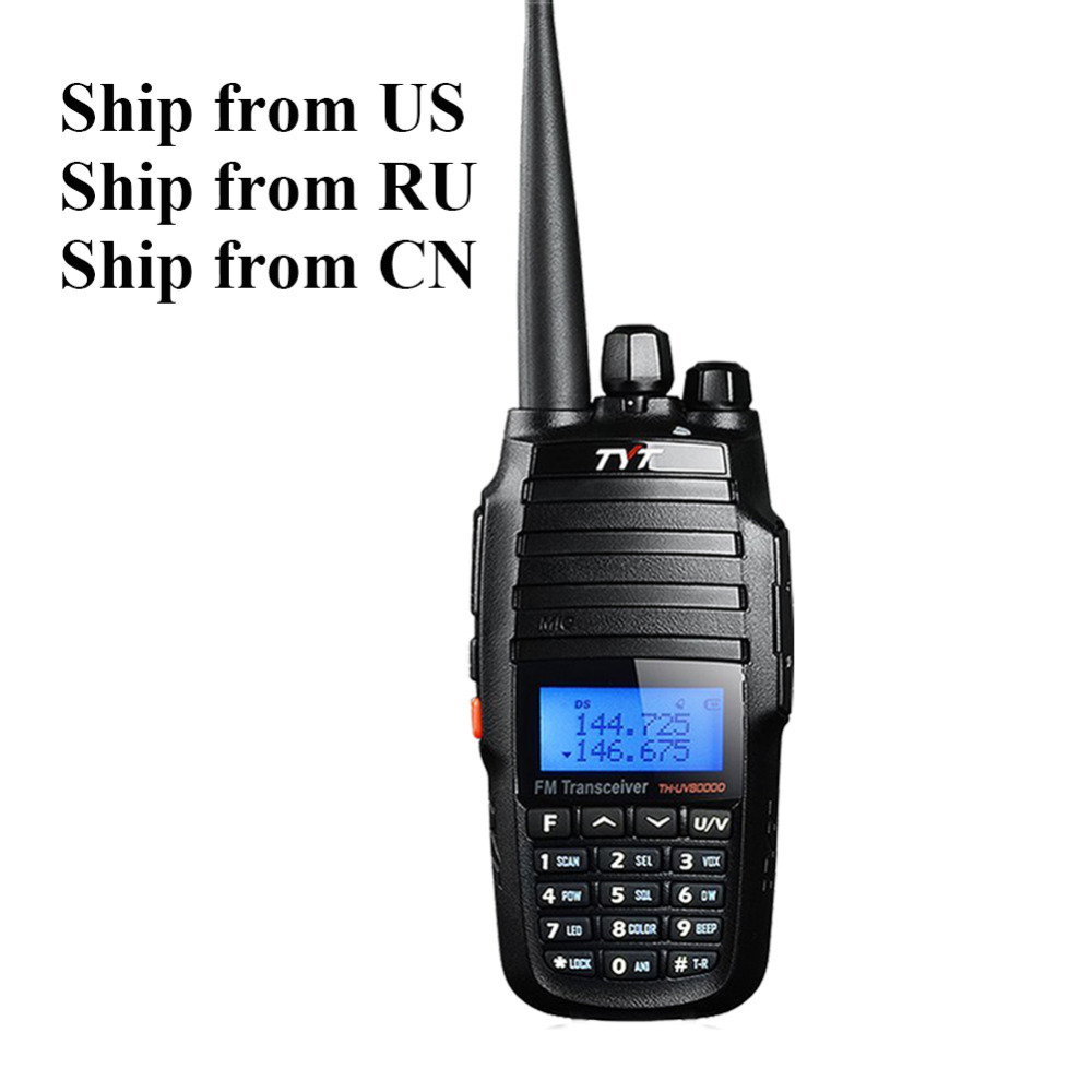 Tweewegs radio 10 W TYT TH-UV8000D 136-174 / 400-520MHz dual-band Handheld FM Transceiver Radio walkie talkie